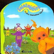 Cuatro Teletubbies felices